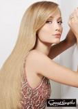 Dlouhá, blond hříva s ofinou na straně