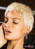 Dámský, krátký střih v blond